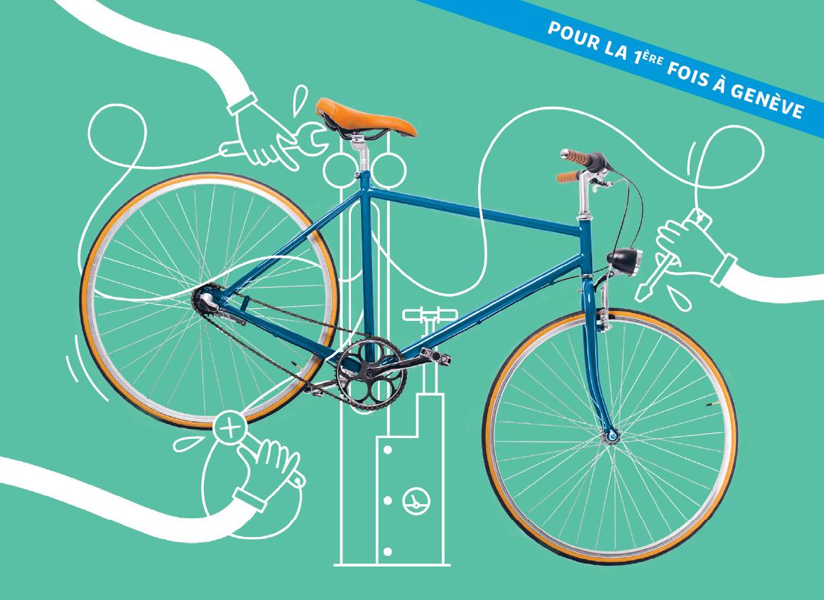 La première station de réparation de vélos à La Praille !